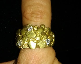 Brass Nugget Ring