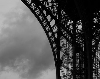 One of the arcs of the Eiffel Tower, Paris, France. One of the arches of the Eiffel Tower, Paris, France.