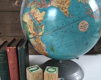 "Vintage 12"" World Globe - Weber Costello"