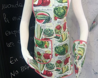 Handmade 100% cotton apron