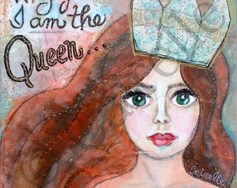 Queen, 12x12 Signed Print, Limited Edition