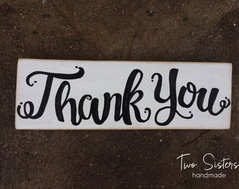 Thank You, Hand Painted Photo Sign, Photo Prop, Wood Sign, Wedding Sign, Photo Shoot Prop, Just Married, Marriage