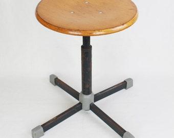 Bauhaus wooden / metal stool - adjustable stool - screw 50s industrial stool & Industrial stool | Etsy islam-shia.org