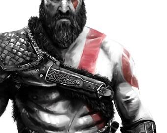 Kratos - God of War Poster