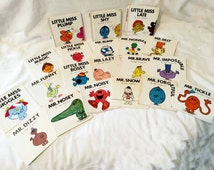 Mr. Men Little Miss Vintage Books