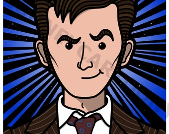 Tenth Doctor A5 Print