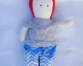 Shamus - Handmade Doll- Cloth Doll- Fabric Doll- Rag Doll