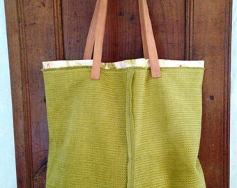 Acid green purse ...
