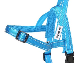 Medium Dog Harness Blue Harness Step In Harness Custom Dog Harness Adjustable Harness Dog Collar Pet Harness Pet Accessories Walking Harness