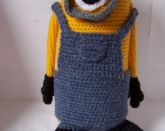 Minion Hand crocheted toy, Handmade , Crocheted Doll, Stuffed toy, Amigurumi Toy, Crocheted Toy