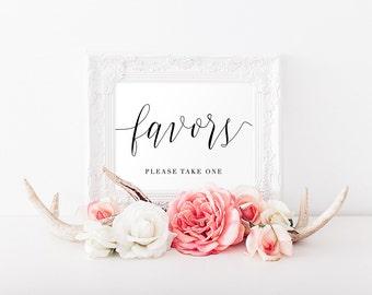 Printable Favors Sign, Wedding Favors Sign, Wedding Sign, Favors Table Sign, Wedding Printable - Wynter