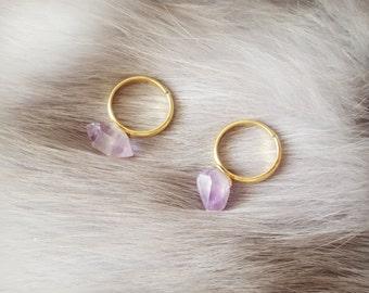 Amethyst ring, Adjustable crystal ring, Crystal ring, Amethyst jewellery, Lavender Amethyst