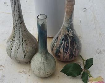 Vintage Glass Bottles Painted Old Glass Bottles