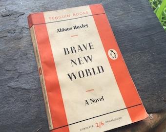Brave New World - Aldous Huxley - 1950s print - Penguin Book