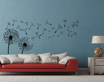 Dandelion Wall Decal  Dandelion Wall Art  Dandelion Seeds Blowing In The  Wind Wall Decal Part 87