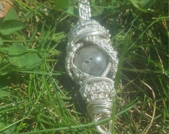 Labradorite Silver Wire wrapped pendant