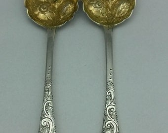 Antique 925 Sterling Silver Serving Spoons (1832 Made)