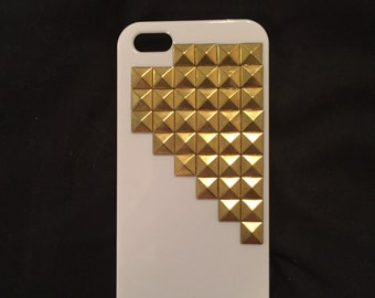 White Studded iPhone 5 Case