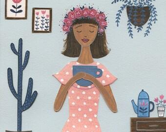 Polkadots & Tea - Art Print