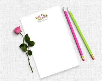 Personalized Notepad Teacher, Personalized Notepad Set, Personalized Writing Paper, Custom Notepad, Writing Pad, Floral Notepad, NP05