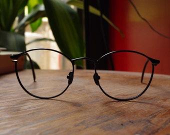 The navy vintage glasses frames