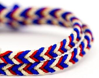 Bracelet braided rope timeless BleuBlancRouge