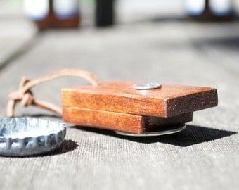 Small Wood Bottle Opener Keychain