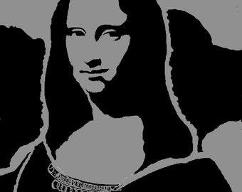 "Mona Lisa Stencil (Reusable) 10"" x 12"""