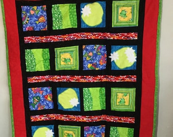 Lime Lily Pad Quilt