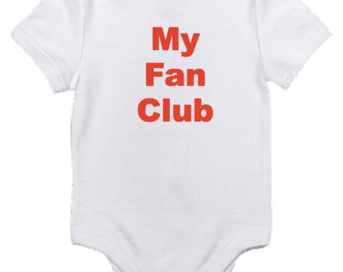 My Fan Club baby bodysuit - Baby Shower signing gift