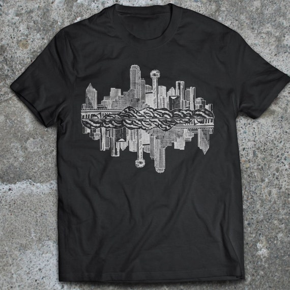 American Made Dallas Skyline Premium T Shirt By