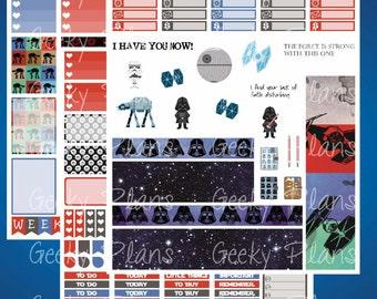 Star Wars Dark Side Printable Planner Stickers