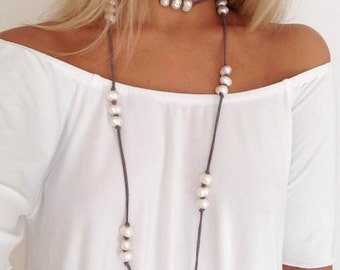 Kiss My Pearls Wrap Necklace