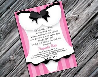 Printable lingerie shower invitation