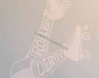 Roller Derby, Vinyl, Window Decal, Derby Love, Derby, Four Wheels, Decal, Sticker, Stickers