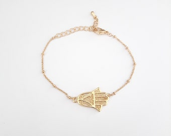 Hamsa hand bracelet