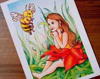 Thumbelina - Giclee Print