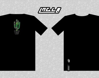 T-shirt black CACTUS in organic cotton (made in France)