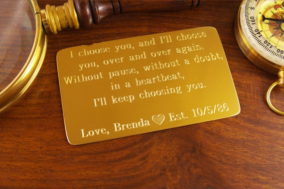 21st Wedding Anniversary Gifts For Husband: 21st Anniversary Gift Brass Anniversary 7th Wedding