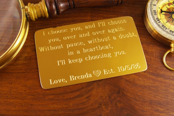 3rd Wedding Anniversary Gifts For Husband: 21st Anniversary Gift Brass Anniversary 7th Wedding