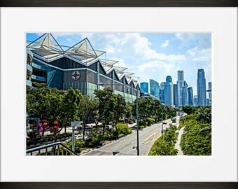 Singapore print building architecture skyscraper photo, city urban photography, fine art wall art, home decor HDR Suntec mall skyline street