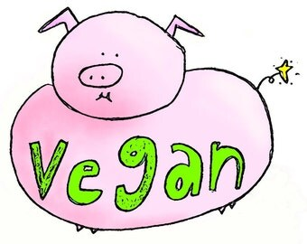 "Preorder*** Sticker ""Vegan Pig"""