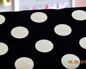 Summer Jersey dots white on black Hilco