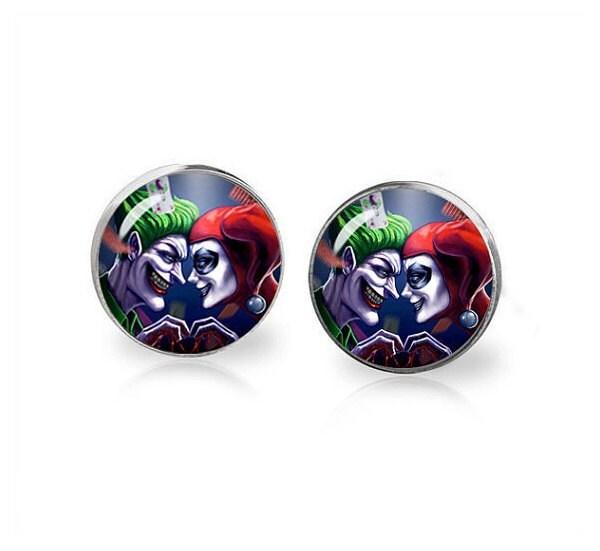 Harley quinn and joker earrings fandom jewelry harley quinn for Harley quinn and joker jewelry