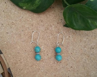 Dainty Turquoise and Silver Earrings