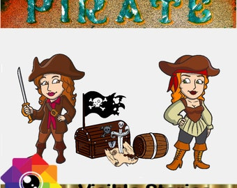 Famous Pirate Words and Phrases 1B for Digital and Printed Scrapbooking and Crafts