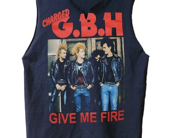 Give Me Fire - G.B.H. raw edge muscle shirt