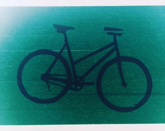 Bicycle Vinyl Decal