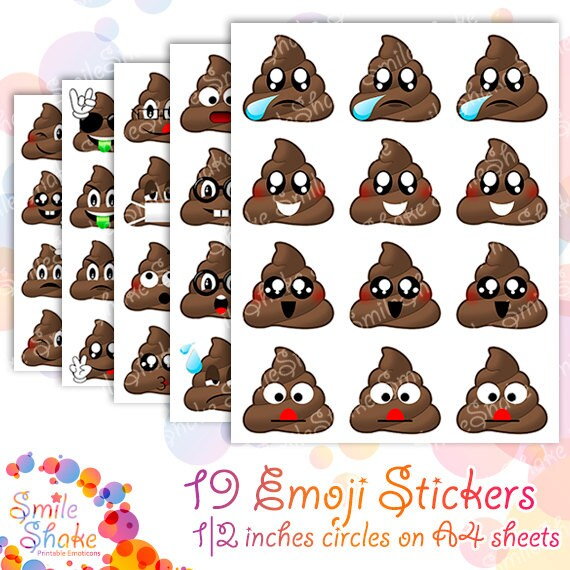 Poop Emoji Erin Condren Printable Stickers