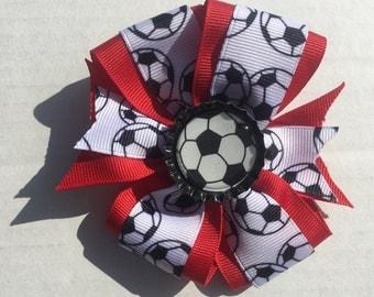 Pinwheel Soccer Bow